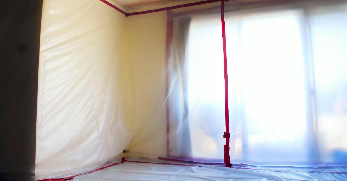 removing popcorn ceiling asbestos